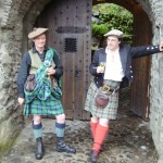 Ossian and Alex at Eilean Donan Castle