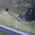 I have to walk down-where?! The path down to Smoo Cave!